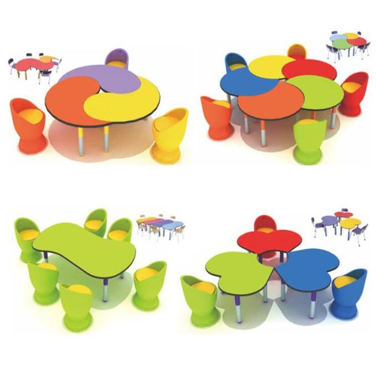 Children's table and chairs (8)