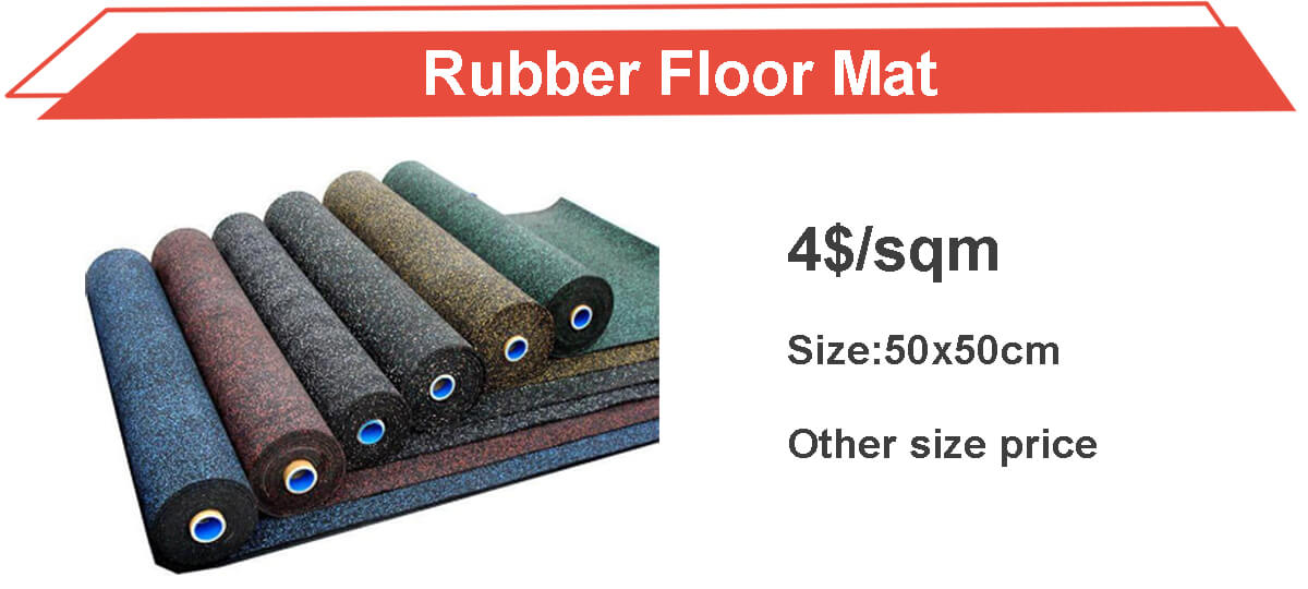 High quality rubber floor mat
